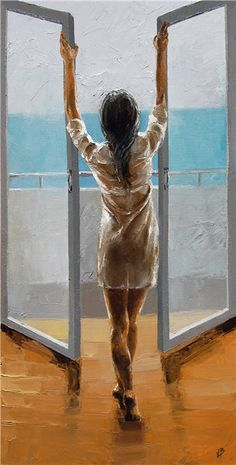 Victor Bauer is an American palette knife painter, working mainly with oils. His art can be found in private collections in the US, Europe and Canada. Woman Painting, Erotic Art, Beautiful Paintings, Figurative Art, Love Art, Female Art, Amazing Art, Fantasy Art, Modern Art