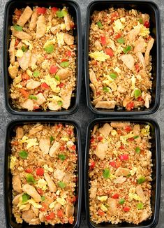 Thai Fried Rice made with riced cauliflower is a healthier and low carb alternative to traditional Thai Fried Rice. It's easy to make, ready in less than 30 minutes, and can be made ahead of time for your weekly meal prep.