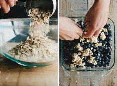 Blueberry-Oat Biscuit Cobbler