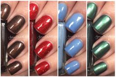 Smokey Mountain Lacquers Winter 2015 collection Swatches and Review by Aggies Do It Better