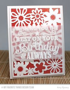 Floral Fusion Cover-Up Die-namics, Birthday Chalkboard Greetings - Amy Rysavy  #mftstamps