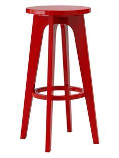 Bold red bar stool