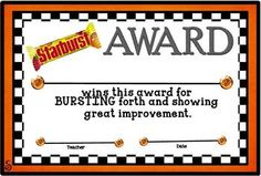 Delicious 30 Pack Candy Award Certificates