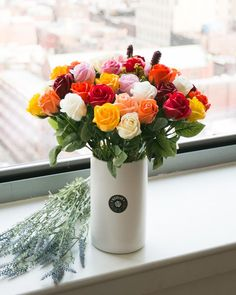 """- 50 roses soap flowers assorted color flowers. - Measures appoximately 15 1/2""""(39cm) tall (8"""" (20cm) tall vase only) - Includes at least 1 different Bushes and Bushes will vary - ITEM # : M1634 - Price : $140 - Delivery : fee not included email us for detail of delivery #www.keziaherez.com #Order keziaherez@gmail.com #mother's day gift #happybirthday gift #valentinesday gift #soapflower #love #flower stagram #flower"""