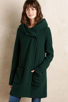 Boiled Wool Sweater Coat - anthropologie.com