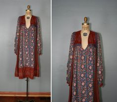 india dress / 1970s dress / hippie dress / by PrettyLittleWorldVtg, $218.00