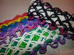 Fishnet Bracelet Tutorial by feelinspiffy (Rainbow Loom) Crazy Loom Bracelets, Loom Bracelet Patterns, Rainbow Loom Bracelets, Rainbow Loom Tutorials, Rainbow Loom Patterns, Rainbow Loom Creations, Rubber Band Crafts, Rubber Bands, Monster Tail Loom