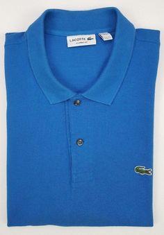 426c341f2 Lacoste Polo Blue 3XL Mens Size Cotton Recent Classic Fit Croc FA8713 Pique  XXXL #Lacoste