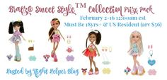 Giveaway- Enter to win a Bratz Sweet Style Collection Prize Pack worth $56!