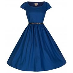 Tara Midnight Blue Swing Dress | Vintage Inspired Fashion - Lindy Bop
