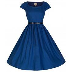 Tara Midnight Blue Swing Dress | Vintage Inspired Fashion - Lindy Bop