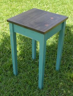 Wood Handmade End Table-Painted Wood Side Table-Distressed End Table-Painted-Cottage End Table-Farmhouse End Table
