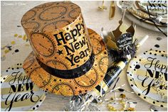 Rosemary and Thyme: Happy New Year ~ Our New Year's Eve Festive Table