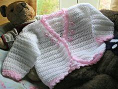 Crochet baby girl bolero cardigan by crochetyknitsnbits on Etsy, £17.99
