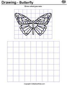 Grid drawing examples~ practice for grid drawing lesson