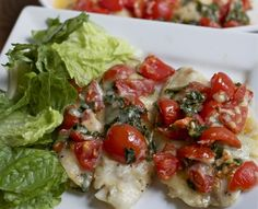 #recipes Bruschetta Tilapia (Fish)...  was very good!!!  Many requests to make again!!!