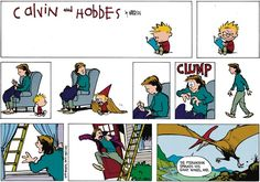THE DAILY CALVIN: Calvin and Hobbes, February 26, 1989 - CLUMP | The Pteranodon spreads his giant wings, and...