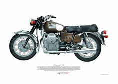 Moto Guzzi V7 850 GT (1974) - Motorcycle Illustration di MSaHomeDesign su Etsy