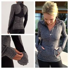 Black Star Runner Pullover - Lululemon---- looks sooooo comfy! Workout Attire, Workout Wear, Workout Outfits, Workout Tips, Lulu Lemon, Mode Style, Style Me, Fitness Motivation, Fitness Gear