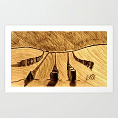 SHAPES IN THE SAND Art Print by NEIL STUART COFFEY - $12.48