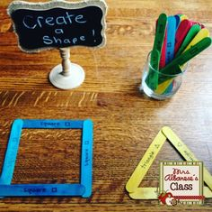 Teaching 2-D shapes is probably my most favourite math strand!I love making it interactive and hands-on for my students.  Provocations are scattered throughout my classroom - this is a simple and easy