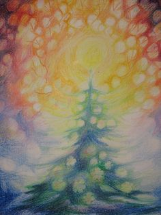 all the colors in an advent painting by Judith Bursott Detroit Waldorf Chalkboard Drawings, Chalk Drawings, Wet On Wet Painting, Painting & Drawing, Wal Art, Winter Art Projects, Rudolf Steiner, Ecole Art, Christmas Art