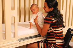 The PediaLift Crib™ is a wheelchair accessible crib designed to provide a SAFE way for disabled parents to transfer their baby. Osteogenesis Imperfecta, Adaptive Equipment, Disability, Cribs, Toddler Bed, Parents, Wheels, Baby, Life