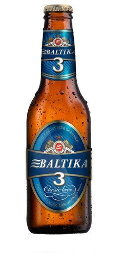 Russian beer...Baltika Blue #3...yum...