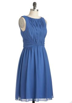 Swept Off Your Feet Dress in Periwinkle, #ModCloth  Love the pleats!