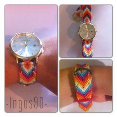 Friendship bracelet watch #friendshipbraceletwatch #friendshipbracelet