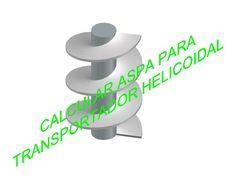 CALCULAR ASPA PARA TRANSPORTADOR HELICOIDAL