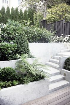 Slope landscaping idea.