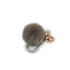 Rabbit Fur Charm Pom Pom Keychain - Accessorize your favourite handbag with the softest rabbit fur charm pom pom to complete your elegant look for the next GNO!