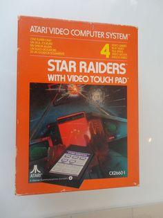 GAME (raro) ATARI 2600 STAR RAIDER + VIDEO TOUCH PAD