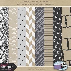 Free Printable Paper Pack from Holly Wolf Scraps | Pixel Scrapper March 2017 Blog Train