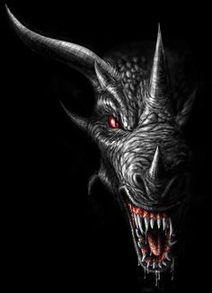 Shadow Dragon Head by *ANARKYMAN