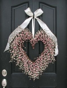 Heart wreath for Valentine's Day
