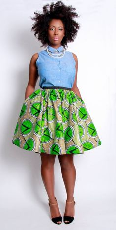 kente for boys  | Kente Umbrella Dress Designs With Head Wrap 001
