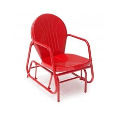 TheOutdoor Glider Chair is an adorable piece for your patio and so fun to sit in. The vibrant red finishe will pop on any patio. The seat is contoured for added comfort. About Outdoor Glider Chair what if, when you closed your eyes, you pictured yourself in your own backyard?. | eBay!