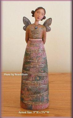 KELLY RAE ROBERTS DREAM BIG ANGEL FIGURE FREE U. S. SHIPPING #AngelFigure - $36