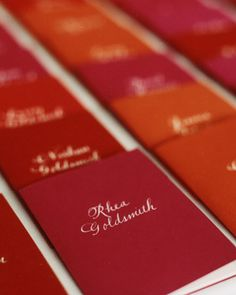 Personalized Wedding Ceremony Programs: Name of each guest printed on their booklet.