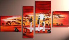 Moderne art abstrait peinture à l'huile: d'africaines Étape ...