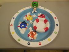 M&M's Collectibles, M & M collectible Ceramic swimming pool chip & dip bowl