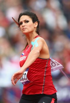Leryn Franco of Paraguay competes in the Women's Javelin Throw Qualification on Day 11 of the London 2012 Olympic Games at Olympic Stadium on August 2012 in London, England. (Photo by Michael Steele/Getty Images) Leryn Franco, Javelin Throw, Athletic Events, Best Track, Olympic Athletes, Sports Stars, Sports Photos, Summer Olympics, Track And Field