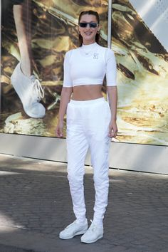 8627a87c1e207 Bella Hadid from The Big Picture  Today s Hot Photos The model poses as she  celebrates 45 years of Nike Cortez sneakers in Paris. Fashion Explora