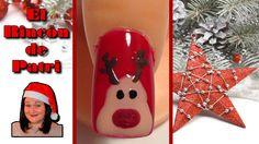 Diseño de uñas de reno de Navidad de El rincón de Patri Nail Art. Sigue todos nuestros diseños de decoración de uñas en http://www.rincondepatri.com Reindeer Nail Art