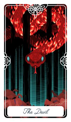 Yoshi Yoshitani The Devil for my #fairytaletarot As always, if you're interested in a deck, sign up here http://goo.gl/forms/SZQedRidy1yDtmSH2 The Devil card is about giving into your Ego, lusting for things that you don't need, or are wrong for you. Being unable to...