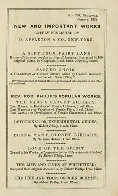 Catalog from January 1839. In back of Memoirs of the Rev. Samuel Munson, and the Rev....