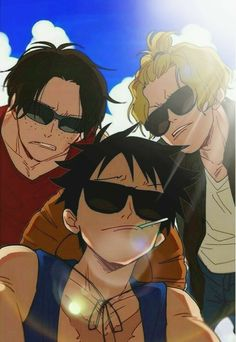 The coolest brothers in the world luffy, sabo and ace – One Piece One Piece Comic, Anime One Piece, One Piece Funny, One Piece Fanart, One Piece Gif, Manga Anime, Film Manga, Me Anime, Anime Guys