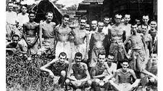 "This picture shows real Canadian soldiers who fought in the ""Battle of Hong Kong"" this picture was taken after a group of Canadian POW's were released from a Japanese prison camp. It shows how skinny they are. Canadian Soldiers, Canadian Army, Canadian History, Crime, Medal Of Honor Recipients, Japanese American, Prisoners Of War, Military History, World War Two"